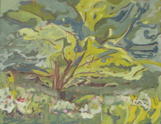 Artist: Francois Fournier - Title: The Flying apple Tree - Medium: Oil Painting - Year: 2013