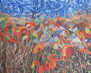 Artist: Francois Fournier - Title: The Red Raspberry Leaves - Medium: Oil Painting - Year: 2014
