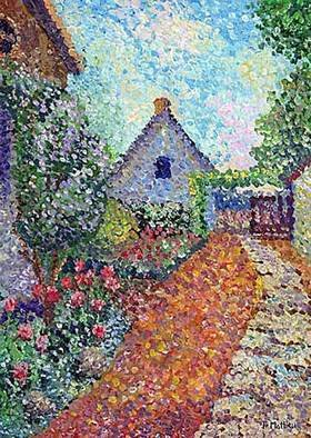 Artist: Francois Mathieu - Title: Path to Magnificent Little House of my Grandmother - Medium: Oil Painting - Year: 2000