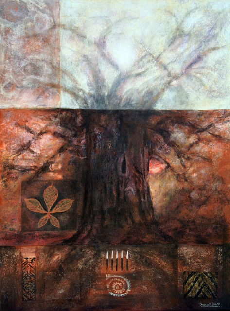 Frank Black  'Giant Baobab Tree 2', created in 2011, Original Mixed Media.