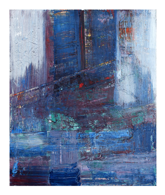 Frances Bildner  'Cloudy Day In Manhattan', created in 2020, Original Painting Acrylic.