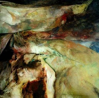 Franziska Turek: 'light horizon', 1996 Other Painting, Abstract.