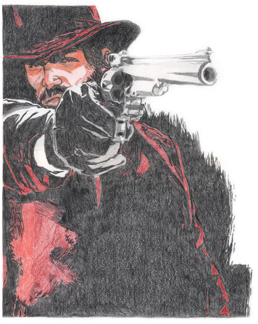 Farhan Rashid  'John Marston', created in 2010, Original Drawing Pencil.