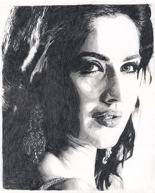 Artist Farhan Rashid. 'Katrina Kaif' Artwork Image, Created in 2010, Original Drawing Pencil. #art #artist