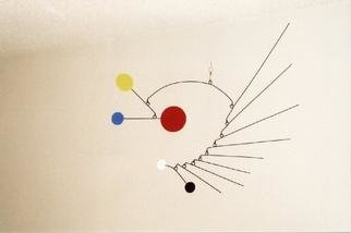 John H. Freeman: 'Mobile 11', 2001 Aluminum Sculpture, Abstract. Inspired by Kandinsky and of course Calder. The second piece to incorporate the use of tines.  ...