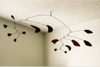 John H. Freeman: 'Mobile 5', 1977 Aluminum Sculpture, Abstract. Artist Description: This is one of my earliest surviving mobiles constructed of bronze beams and fiberboard balast....