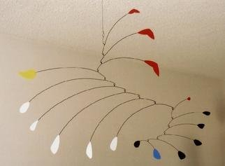John H. Freeman: 'Mobile 9', 2001 Aluminum Sculpture, Abstract. Inspired directly by a particular work by Alexander Calder....