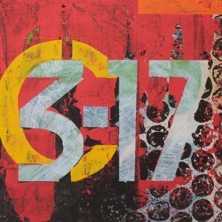 Jose Freitascruz: 'hb55 c 3 17', 2016 Acrylic Painting, Urban. Artist Description: Artwork I created for my door nr.  at HB55 in Berlin where I worked...
