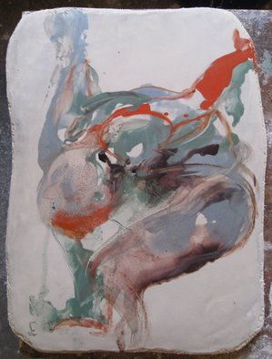 Kohlene Hendrickson: 'Freefall 2', 2009 , Figurative. Artist Description:  , expressive, figurative, fresco, abstract figuration ...