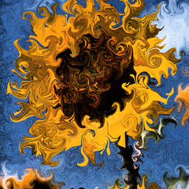 Sandro Frinolli Puzzilli Artwork Sunflower, 2015 Digital Art, Impressionism