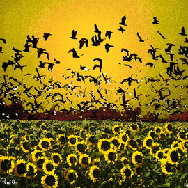 Sandro Frinolli Puzzilli Artwork Yellow fly, 2015 Digital Art, Impressionism