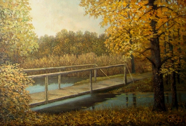 Artist Tatiana Fruleva. 'Beginning Of Autumn' Artwork Image, Created in 2014, Original Painting Oil. #art #artist