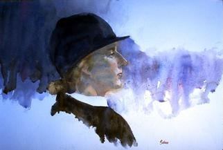 Fred E. Salmon. Jr.  'Equestrian', created in 1999, Original Watercolor.