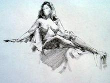 - artwork Sitting_Female_Nude-977807639.jpg - 1999, Drawing Charcoal, Figurative