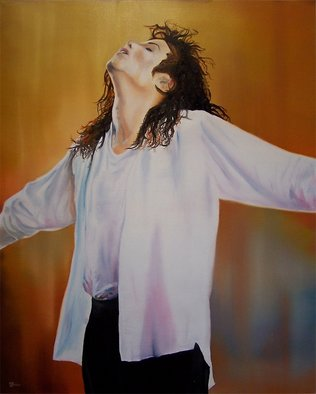 Music Oil Painting by Dj Fedeli Title: Michael, created in 2009