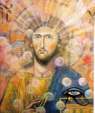 Cyr Antoine Hubert: 'radiance christi', 2016 Oil Painting, Christian. Artist Description: Portrait christ Byzantin...