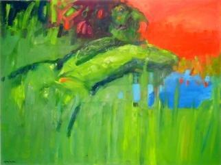 Artist: Gabryella Milowska - Title: Green Thailand - Medium: Oil Painting - Year: 2012