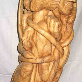 dinh carved wooden panno