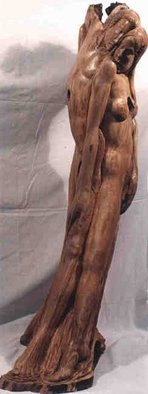 Gaetano Cherubini: 'tango', 2000 Wood Sculpture, nudes.     sculpture in olive wood  ...