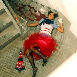 Samantha Scott: 'colorfully dead', 2003 Color Photograph, Fashion. Artist Description: from a series of images shot for emerging fashion designers based in miami. ...