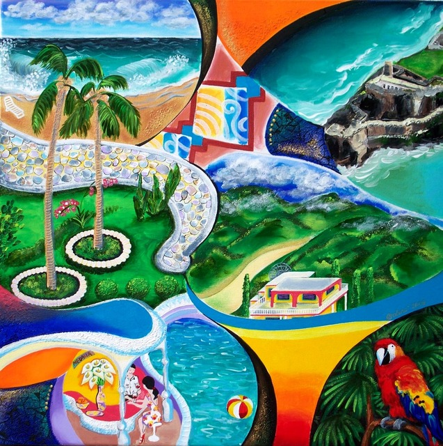 Galina Victoria  'Themes Of San Juan Pr', created in 2009, Original Printmaking Giclee - Open Edition.