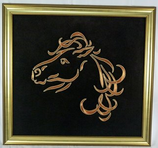Animals Mixed Media by Celal Ilhan Title: copper horse, created in 2012