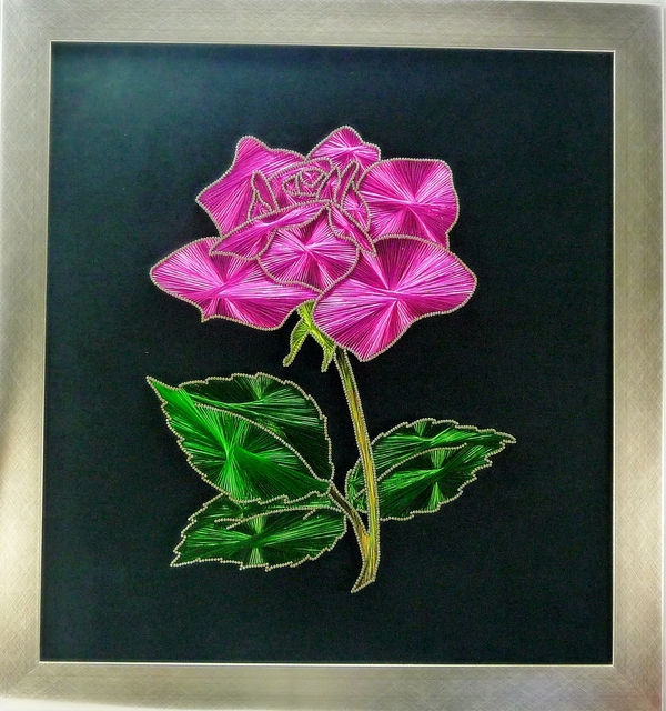 Celal Ilhan  'Pink Rose', created in 2012, Original Mixed Media.