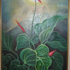 Pegasus Gallery Artwork Morning Glory, 1997 Oil Painting, Floral