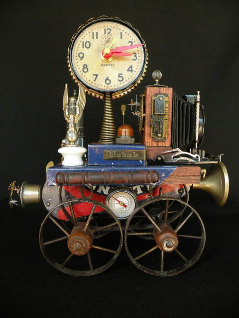Gregory Mason  'Time Travel', created in 2014, Original Assemblage.