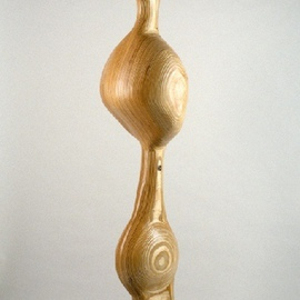 Gary Brown: 'Lucy', 2004 Wood Sculpture, Abstract. Artist Description:  Laminated Baltic Birch on a steel base ...