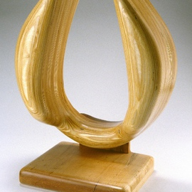 Gary Brown: 'Yoke', 2004 Wood Sculpture, Abstract. Artist Description:  Laminated Baltic Birch and Maple, wood sculpture ...