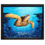 sea turtle deep blue coral By Gary Boswell