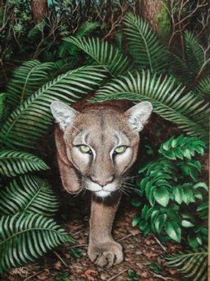Gary Whitley  'Cougarwoods', created in 2001, Original Painting Oil.