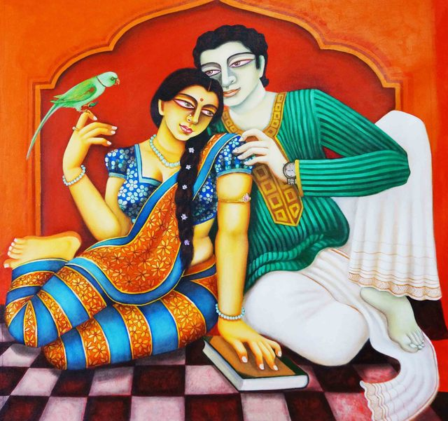 Gautam Mukherjee  'Charulata', created in 2018, Original Painting Acrylic.