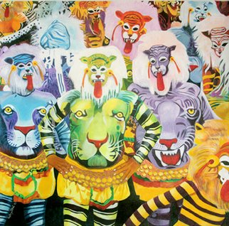 Artist: Gayatri Artist - Title: You would touch them - Medium: Acrylic Painting - Year: 2010