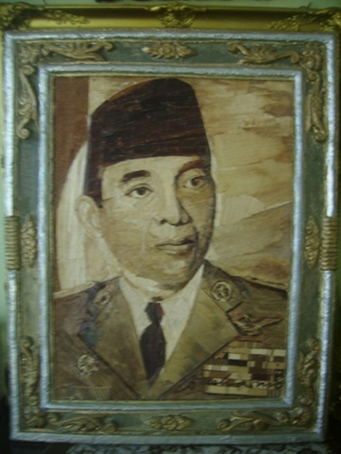 painting proklamator mr ir soekarno mixed media by gaya