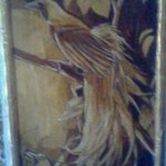 Unique Painting Bird Of Paradise Typical Bird Of Papua, Gaya Wijaya