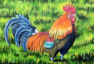 Gerardo Bolanos: 'head honcho', 2019 Oil Painting, Farm. Artist Description: I love painting birds and farm animals. ItaEURtms one of my favorite themes. Oil on stretched canvas. ...