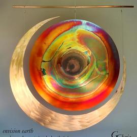 Gary Chris Christopherson: 'envision earth embraced', 2018 Mixed Media Sculpture, Abstract. Artist Description: Envision earth and all its creatures embraced to achieve sustained thriving for all everywhere for all time.Acquire GChris sculpture and 100  of Chris  payment goes for Thrive  Scholarships at University of Wisconsin - Madison. ...