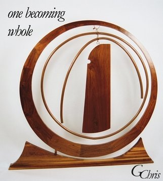Gary Chris Christopherson: 'one becoming whole', 1990 Mixed Media Sculpture, Abstract.  Celebrates the ascendency of ones self, interacting and growing with the universe, becoming a whole being.Acquire GChris sculpture and 100 of Chris payment goes for Thrive Scholarships at University of Wisconsin - Madison. ...
