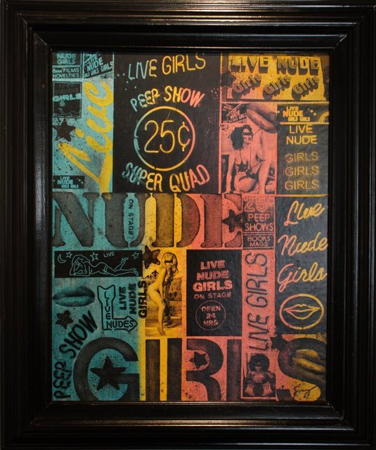 Gerard Delaney  'Live Nude Girls', created in 2011, Original Mixed Media.