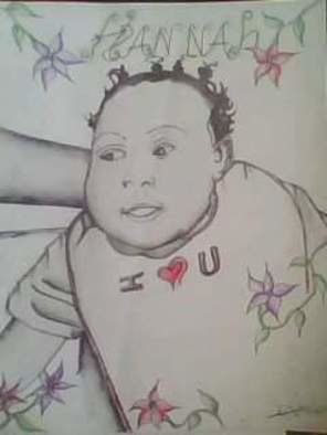 Geary Jones Artwork Baby , 2008 Baby , Portrait