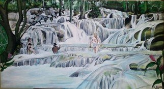 Geary Jones: 'The Famous Dunns River', 2015 Acrylic Painting, Landscape.  The famous Dunn' s River...