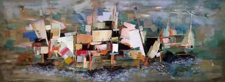 Acrylic Painting by Anna Veshaguri titled: Port, 2013