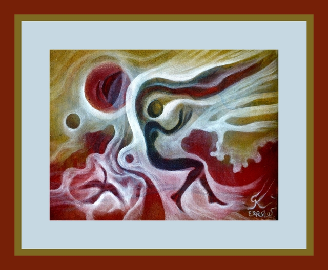 George Katevenis  'Virgo Wind', created in 2020, Original Digital Print.