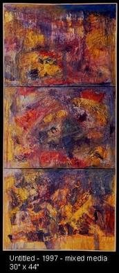 George Oommen: 'untiled', 1997 Mixed Media, Abstract.