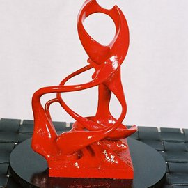 George Tsirogiannis: 'Lady in Red', 2010 Other Sculpture, Abstract.