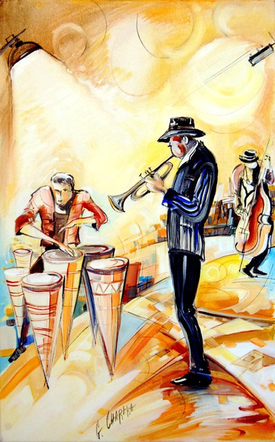 Georgi Chirakchiev  'Jazz Music', created in 2012, Original Painting Acrylic.