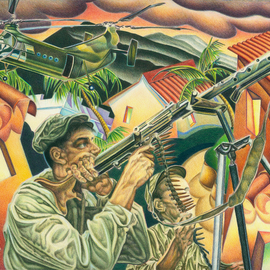 Geo Sipp Artwork Algerian Firefight, 2011 Other Drawing, Military