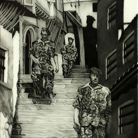 Geo Sipp Artwork Soldiers in the casbah, 2015 Other Drawing, War